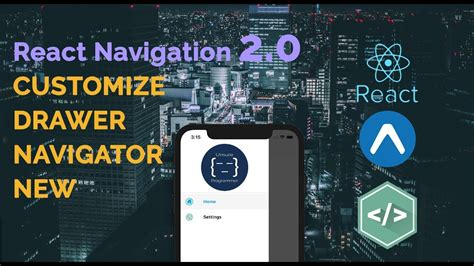 react navigation  customize drawer navigator react native youtube