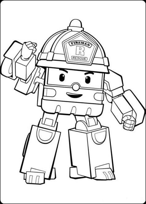 Buku Anak Coloring Robot Gambar Gunting Warnai Mewarnai Gambar Robocar Poli Mewarnai Gambar