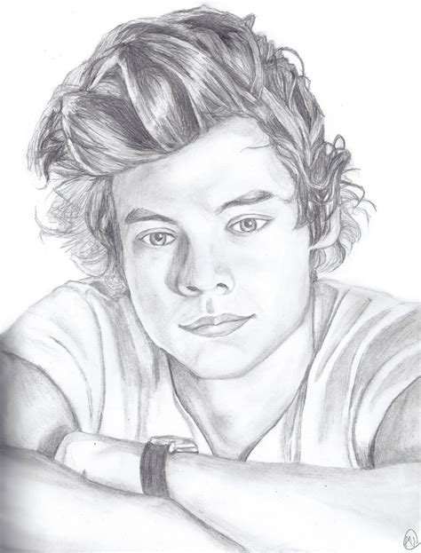 Harry Styles Drawing Step By Step by Harry Styles By Mesymes On Deviantart