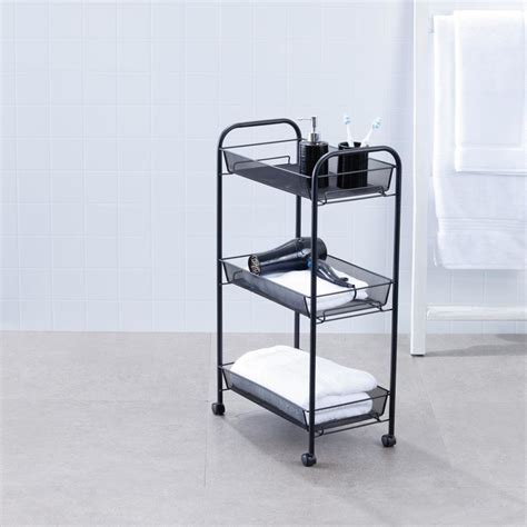3 Tier Trolley Black Kmart Big W Laundry