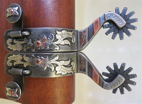 Handmade Spurs For Sale - 9284 new handmade shawn deeter mounted spurs