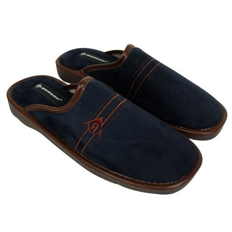 mens slippers wide dunlop mens slippers luxury wide fitting mule slipper