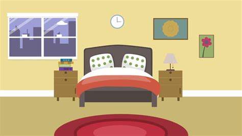animated bedroom pictures adjust the wall clock man trying to adjust the watch 2d