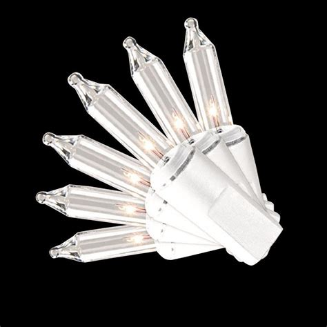 cool white icicle lights home accents 100 light led m5 cool white faceted