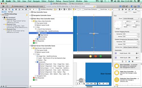 auto layout tutorial xcode 7 tutorial 7 using autolayout in xcode 5 final uikit menu