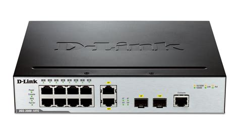 Switch Manageable 10 port gigabit l2 managed switch including 2 gigabit combo base t sfp ports d link canada