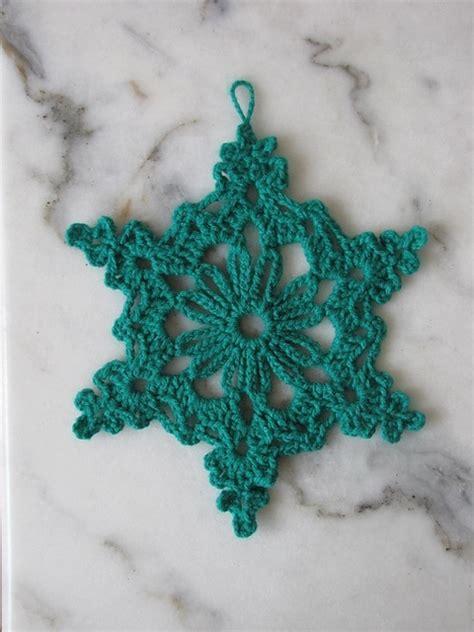 crochet pattern of snowflake chain loop snowflake free pattern crochet pinterest