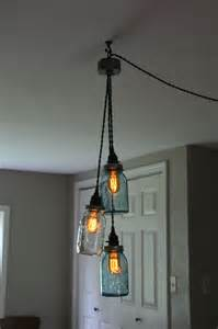 Swag Pendant Light Diy Vintage Jar Chandelier Light Hanging Pendant Jars Not Hairstyles