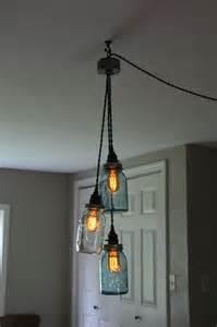 Diy Hanging Light Fixtures Diy 3 Jar Chandelier Swag Light Jar Hanging Pendant Add You