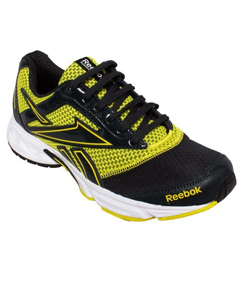Sport Shoes Black Yellow 56125 reebok black yellow sport shoes price in india buy