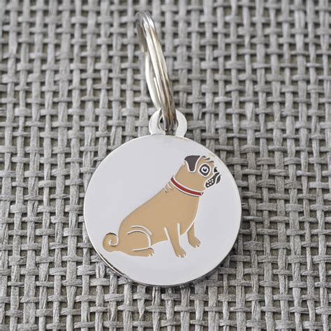 pug puppies idaho pug id name tag by sweet william designs notonthehighstreet