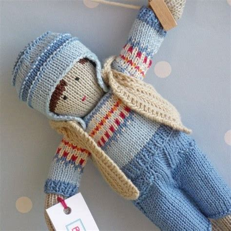 Handmade Knitted Dolls - louis knitted doll