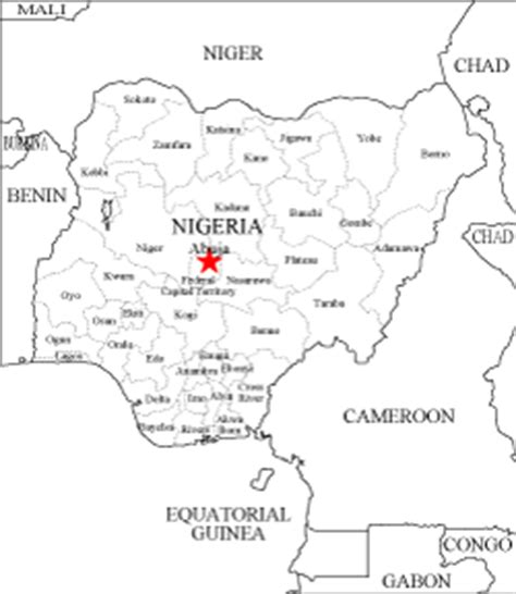 nigeria map coloring page blank africa map