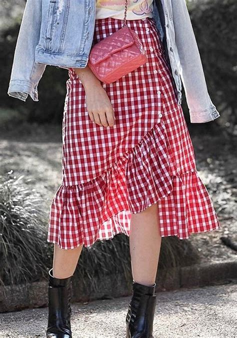 Plaid Mermaid Skirt plaid ruffle single breasted slit sweet mermaid skirt