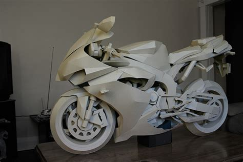 Papercraft Motorcycle - papercraft cardboard motorcycle on behance