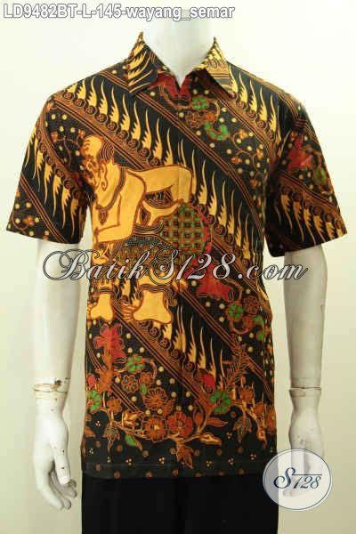 Gamis Batik Wayang Gunungan batik hem klasik elegan motif wayang semar pakaian batik kombinasi tulis buatan asli harga