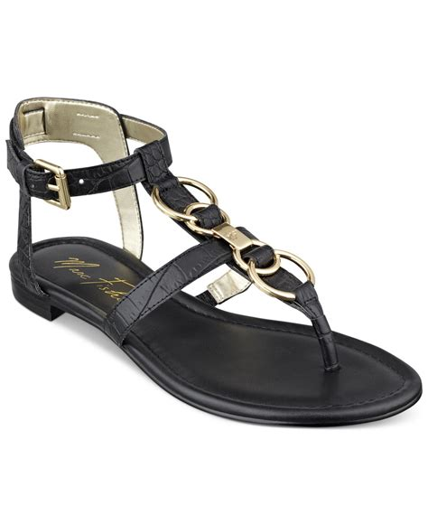 t sandals lyst marc fisher palyna t sandals in black