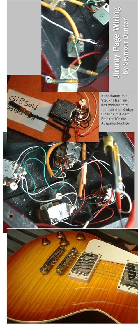 lefthand gear de jimmy page wiring harness gibson les