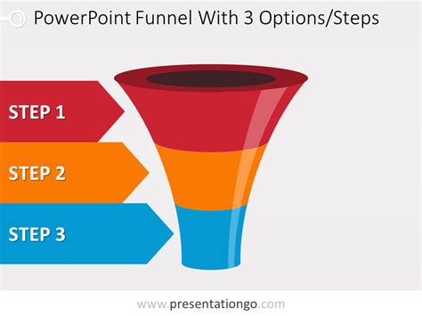 Colorful Powerpoint Funnel With 3 Options Funnel Chart Powerpoint