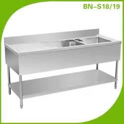Kitchen Sink Restaurant Restaurant Kitchen Sink Stainless Steel Sink With Drain Desk Wash Station Bn S18 19 View Sink