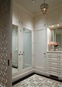 Closets With Mirrored Doors Closet Chandelier Transitional Closet Benjamin Atrium White Massucco Warner Miller