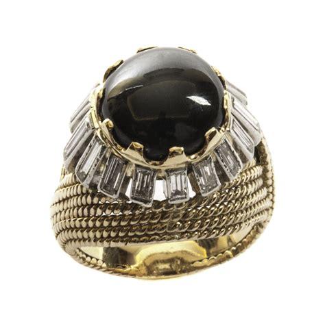 spinello mobili anello in oro e platino con diamanti e spinello naturale