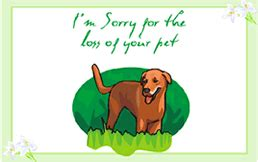 pet sympathy card template printable i m sorry for the loss of your pet pet