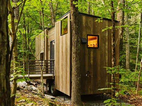 getaway tiny cabins in the woods escape brooklyn better living in brooklyn laotian style