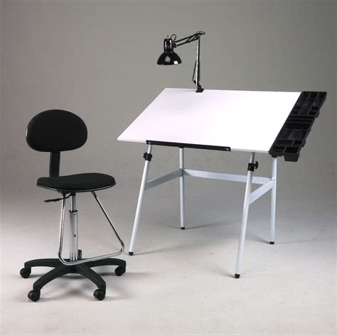 l with table combination folding drawing table desk combo w chair side tray