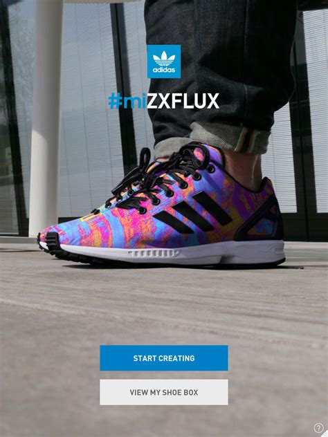 adidas mi zx flux app customizes sneakers with printed photographs