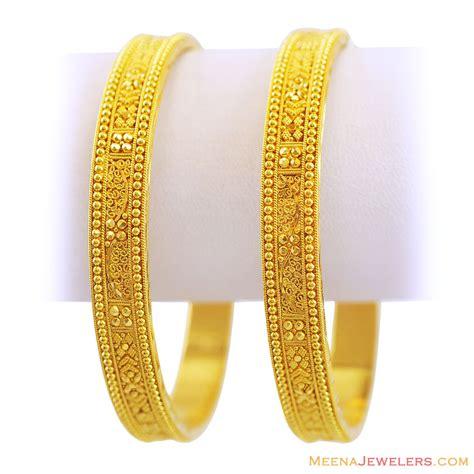 bangles and 22k fancy filigree gold bangles bago12121 22k indian