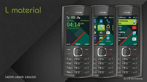 Themes Nokia Asha S40 | l material theme x2 05 x2 02 x2 00 240x320 s40 asha 206