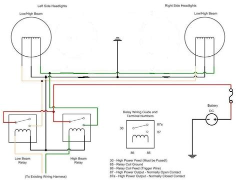 headlight relay wiring diagram efcaviation