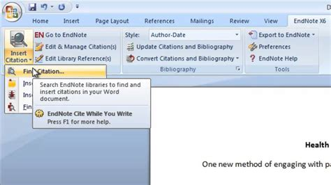 Creating A Bibliography by Endnote Creating A Bibliography For Publication