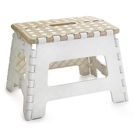Folding Step Stool Uk by Basket Print Folding Handy Household Step Stool 150kg