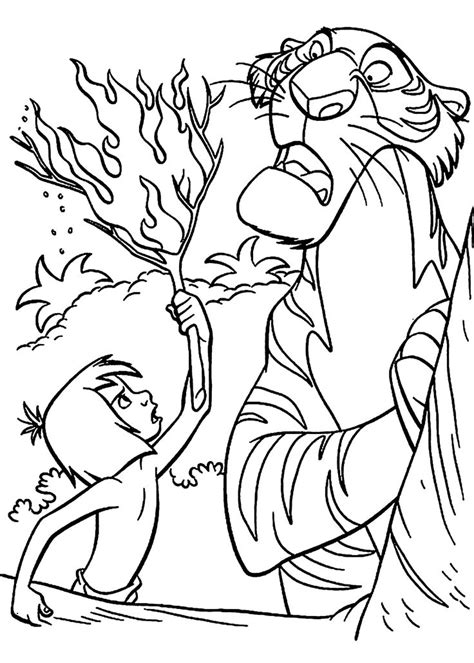 printable coloring pages jungle book mowgli and shere khan the jungle book coloring pages for