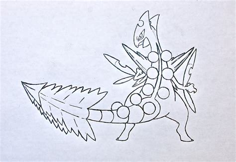 pokemon coloring pages sceptile mega sceptile by xxd17 on deviantart
