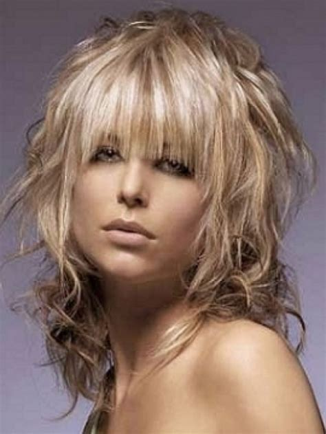 Medium Length Shag Hairstyles with Bangs   Elle Hairstyles
