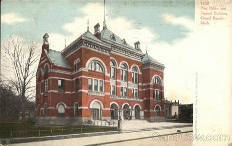 Grand Rapids Post Office by Post Office And Federal Building Grand Rapids Mi Postcard