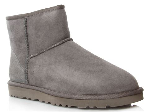 grey ugg boots for ugg mini grey boots in gray lyst