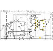 Yamaha AX 400 Schematic Detail Left Power Amp Marked