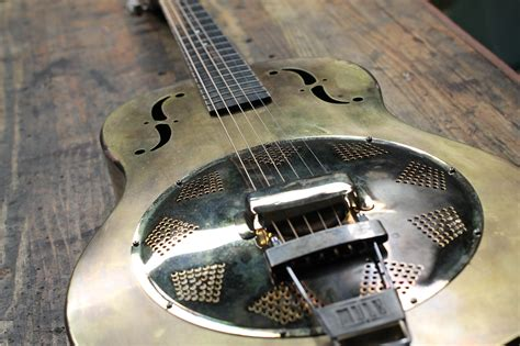 Handmade Resonator Guitars - 39 going to maple leaf mule resophonic