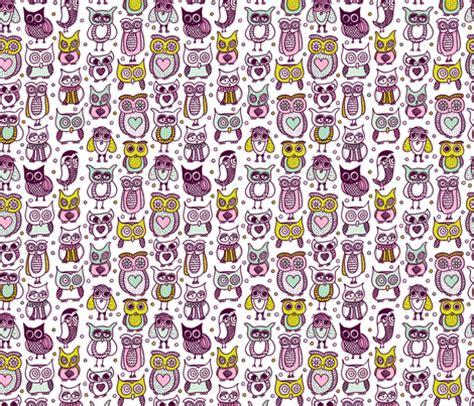cute pattern fabric cute vintage owl illustration kids pattern fabric
