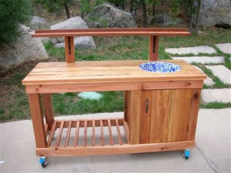 ideas potting tables and table plans on pinterest