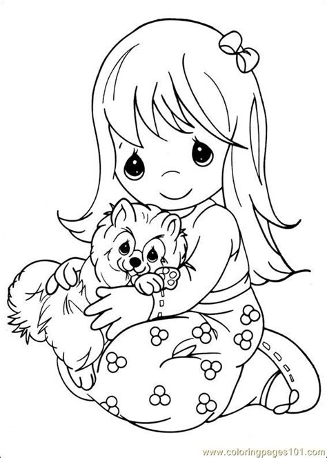 free coloring pages of precious moments animals