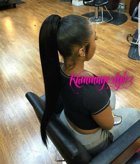 slick back weave hairstyles slick ponytail hair pinterest ponytail hair