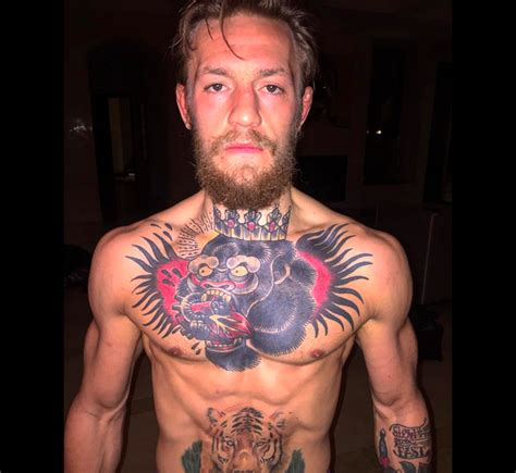 chest tattoo weight loss conor mcgregor will lose 27 pounds before ufc 189 balls ie