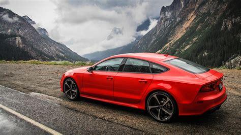 Audi Seite by Hd Hintergrundbilder Seite Aussicht Rot Audi Rs7 Berg