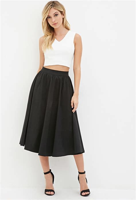 womens black a line skirt redskirtz