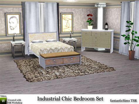 Industrial Bedroom Set by Fantasticsims Industrial Chic Bedroom Set